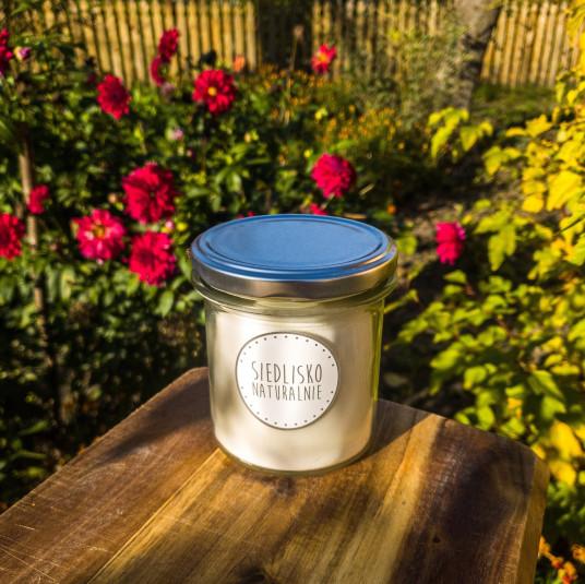 Świeca rzepakowa z drewnianym knotem – miód i mleko